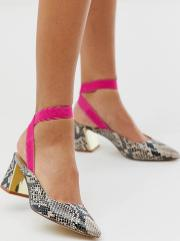 Curved Heel Pointed Shoes Snake
