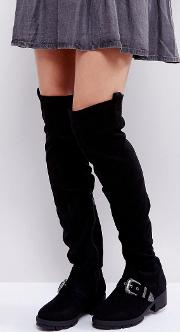 Flat Chunky Over The Knee Boots