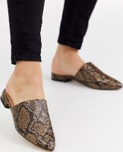 Flat Pointed Mules Snake