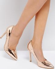 Metallic Point High Heels