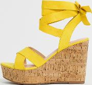 Wide Fit Tie Ankle Wedges