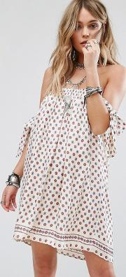 tularose polka dot scarf party dress