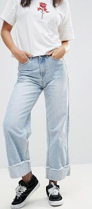 over and under deep cuff jean