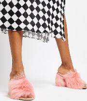 Exclusive Rosa Fluff Heeled Mules