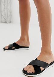 Kari Cross Strap Slides