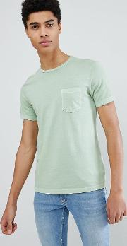 crew neck t shirt in green