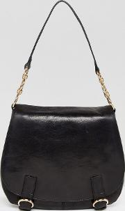 Leather Across Body Bag With Buckle Detailing