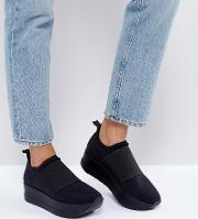 casey platform pull on trainers
