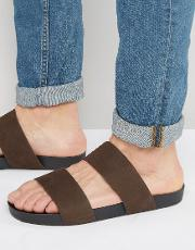 funk double strap slip on sandals