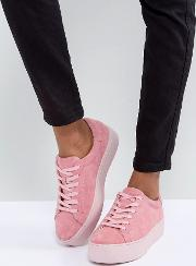 jessie pink suede colourdrench trainers