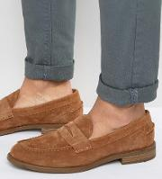 salvatore penny suede loafers