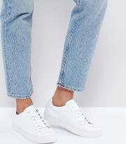 zoe leather trainers  white