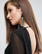 beaded tassel earrings with gold plated hook