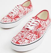 Authentic All Over Print Plimsolls Vn0a38emukl1