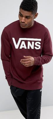 Classic Crew Neck Sweat In Red V00yx0k1o