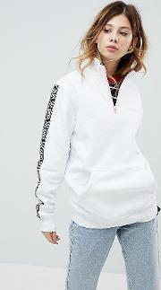 exclusive to asos half zip pullover in white