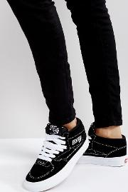 half cab trainers  black and white
