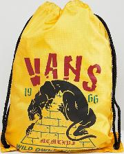 league drawstring backpack  yellow v002w6phy