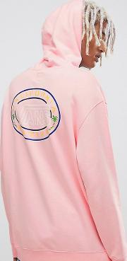 retro hoodie with back print  pink exclusive at asos