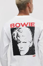 X David Bowie Long Sleeve Top With Back Print