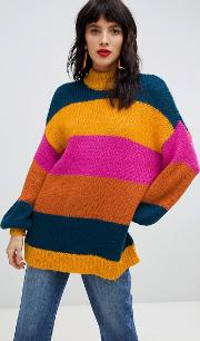 Bold Stripe Knitted Jumper