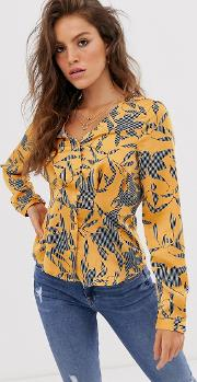 Floral Fitted Blouse