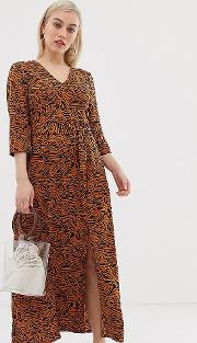Abstract Animal Maxi Dress