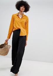 Wide Leg Trouser With Elasticated Waist