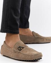 driving shoes  tan suede
