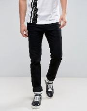 Muscle Fit  In Black With Logo  Slim