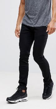 skinny fit jeans  black with badge logo