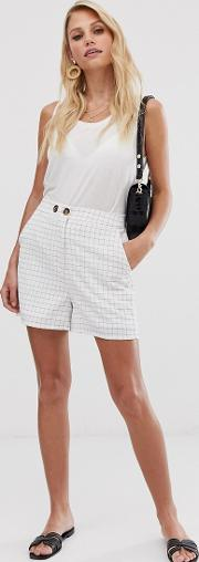 Grid Check Shorts