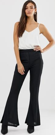 Textured Flare Trouser