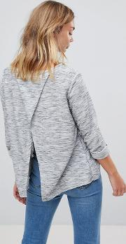 Lighweight Jumper With Split Back Detail
