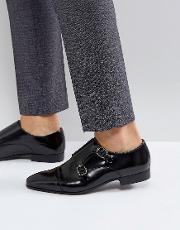 city monk strap shoes in black