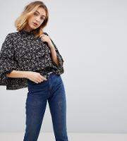 Marci Floral Frill Blouse