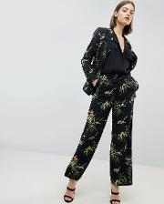 Barbican Collection Tropical Printed Wide Leg Trousers