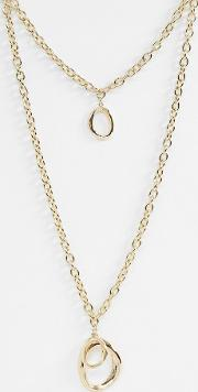 Chunky Oval Multirow Necklace