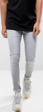 Extreme Skinny Fit Jeans  Light Used Grey