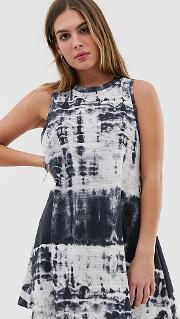 Vest Swing Dress Tie Dye