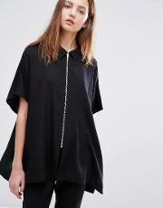 Blouse With Zip Front