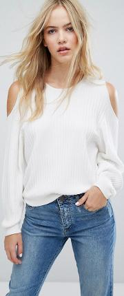 knit jumper with cut out detail