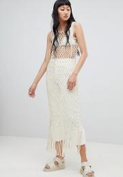 Limited Edition Rope Fringe Bodycon Dress