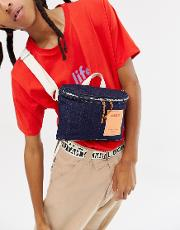 limited edition wisconsin crossbody bag  denim