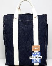 limited edition wisconsin tote bag  denim