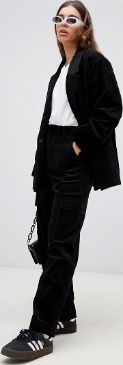 Pocket Detail Cord Trousers
