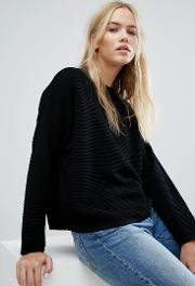Rib Boxy Knit Jumper