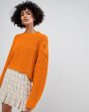 Thick Rib Cropped Jumper