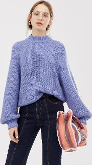 Wide Sleeve Knitted Jumper