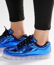 pop blue light up sole trainers